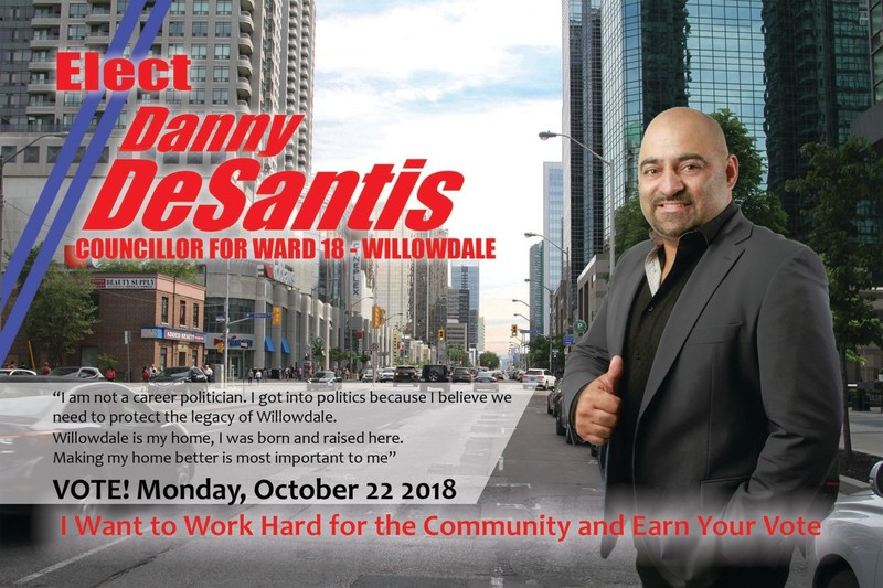 Press Release: Danny DeSantis for Councillor of Ward 18 in Willowdale