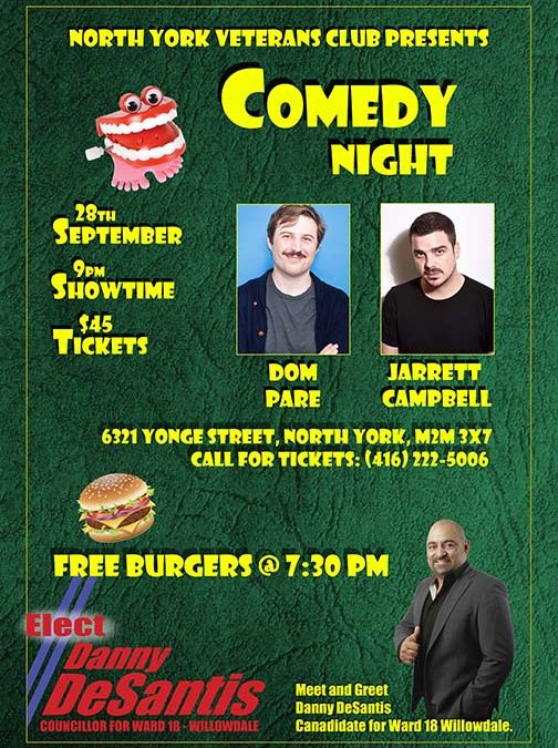 Danny DeSantis to Visit Local Comedy Night