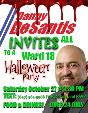 Danny DeSantis Sponsors Halloween Party For Willowdale